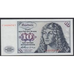 ФРГ 10 марок 1960 год, вариант 1 (GFR 50 deutsche mark 1960 year) P 19, Ro 263a: UNC