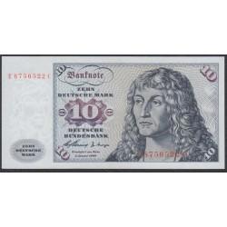 ФРГ 10 марок 1960 год, вариант 2 (GFR 10 deutsche mark 1960 year) P 19, Ro 263b: UNC