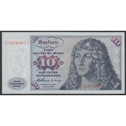 ФРГ 10 марок 1960 год, вариант 3 (GFR 10 deutsche mark 1960 year) P 19, Ro 263c: UNC