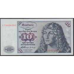 ФРГ 10 марок 1960 год, вариант 4 (GFR 10 deutsche mark 1960 year) P 19, Ro 263c: UNC