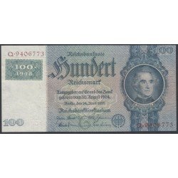 Германия 100 марок 1948 год, зона Советских войск (Germany 100 Mark 1948 year, Soviet Occupation) P 7a: UNC