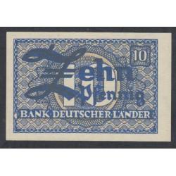 ФРГ 10 пфениннгов 1948 год (GFR 10 pfennig 1948 year) P 12: UNC
