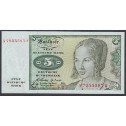 ФРГ 5 марок 1960 год, вариант 1 (GFR 5 deutsche mark 1960 year) P 18: UNC