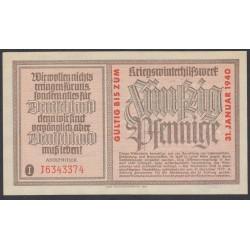 Германия, зимняя помощь 50 пфеннингов 1940 год, 2 выпуск (Germany Kriegswinterhilfswerk 50 pfennig 1940 year) :UNC