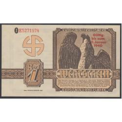 Германия, зимняя помощь 1 рейхсмарка 1940 год, 2 выпуск (Germany Kriegswinterhilfswerk 1 reichsmark 1940 year) :UNC