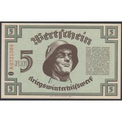 Германия, зимняя помощь 5 рейхсмарок 1939 год, первый выпуск (Germany Kriegswinterhilfswerk 5 reichsmark 1939 year) :UNC