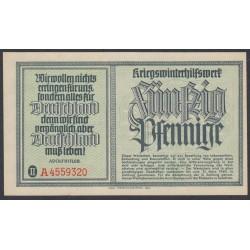 Германия, зимняя помощь 50 пфеннингов 1940 год, 3 выпуск (Germany Kriegswinterhilfswerk 50 pfennig 1940 year) :UNC