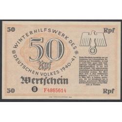 Германия, зимняя помощь 50 рейсхпфеннингов 1940-41 год, 4 выпуск (Germany Kriegswinterhilfswerk 50 reichspfennig 1940-41 year) :UNC