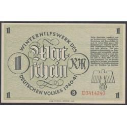Германия, зимняя помощь 1 рейхсмарка 1940-41 год, 4 выпуск (Germany Kriegswinterhilfswerk 1 reichsmark 1940-41 year) :UNC