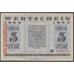 Германия, зимняя помощь 5 рейхсмарок 1940-41 год, 5 выпуск (Germany Kriegswinterhilfswerk 5 reichsmark 1940-41 year) :UNC