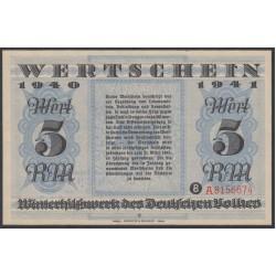 Германия, зимняя помощь 5 рейхсмарок 1940-41 год, 4 выпуск (Germany Kriegswinterhilfswerk 5 reichsmark 1940-41 year) :UNC