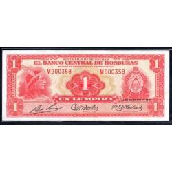 Гондурас 1 лемпира 1951 г. (HONDURAS 1 Lempira 1951) P45b:XF/aUNC