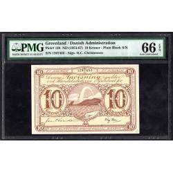 Гренландия 10 крон ND (1953-1967 г.) (GREENLAND 10 Kroner ND (1953-1967)) P19b:66 greid slab