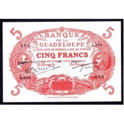 Гваделупа 5 франков ND (1945 г.) (GUADELOUPE 5 francs ND (1945 g.)) P7e:Unc