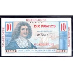 Гваделупа 10 франков ND (1947 - 49 г.) (GUADELOUPE 10 francs ND (1947 - 49 g.)) P32:Unc