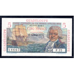 Гваделупа 5 франков ND (1947 - 49 г.) (GUADELOUPE 5 francs ND (1947 - 49 g.)) P31:Unc