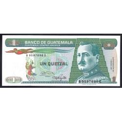 Гватемала 1 кетсаль 1987 г. (GUATEMALA 1 Quetzal 1987 g.) P66:Unc
