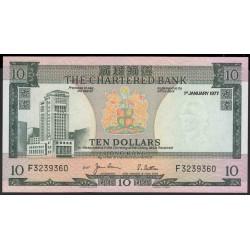Гонконг 10 долларов 1977 год (Hong Kong 10 dollars 1977 year) P 74c:Unc