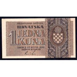 Хорватия 1 куна 1942 г. (CROATIA 1 Kuna 1942) P7b:Unc-