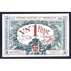 Монако 1 франк 1920 г. (MONACO 1 Franc 1920) P5:Unc