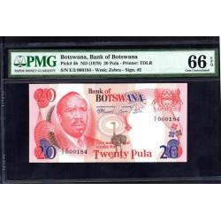 Ботсвана 20 пула ND (1979 год) Образец (Botswana 20 pula ND(1979g.)) P5b:66 greidd slab