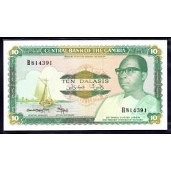 Гамбия 10 даласи ND (1987 - 90 г.г.) (Gambia 10 dalasis ND (1987 - 90g.)) P10b:Unc