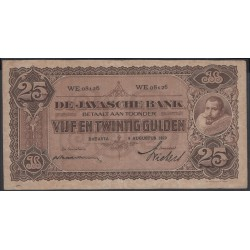 Индонезия (колония Нидерландов) 25 гулден 1929 г. (Indonesia (Netherlands colony) 25 gulden 1929 year) P71c:UNC