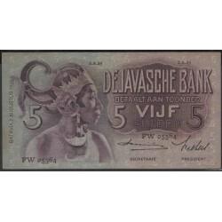Индонезия (колония Нидерландов) 5 гулден 1939 г. (Indonesia (Netherlands colony) 5 gulden 1939 year) P78c:XF