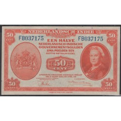 Индонезия (колония Нидерландов) 50 центов 1943 г. (Indonesia (Netherlands colony) 50 cent 1943 year) P110a:UNC