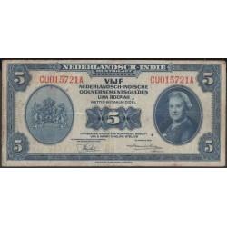 Индонезия (колония Нидерландов) 5 гульден 1943 г. (Indonesia (Netherlands colony) 5 gulden 1943 year) P113:VF