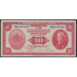 Индонезия (колония Нидерландов) 10 гульден 1943 г. (Indonesia (Netherlands colony) 10 gulden 1943 year) P114:XF