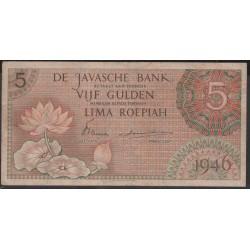 Индонезия (война за независимость) 5 гульден 1946 г. (Indonesia (independence war) 5 gulden 1946 year) P87:XF