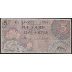 Индонезия (война за независимость) 5 гульден 1946 г. (Indonesia (independence war) 5 gulden 1946 year) P88:VF