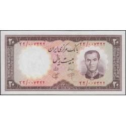 Иран 20 риалов 1340 (1961 г.) (Iran 20 rials 1340 (1961 year)) P 72:Unc