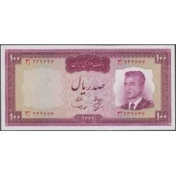 Иран 100 риалов 1342 (1963 г.) (Iran 100 rials 1342 (1963 year)) P 77:Unc