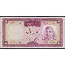 Иран 100 риалов б/д (1969 - 1971 г.) (Iran 100 rials ND (1969 - 1971 year)) P 86a:XF