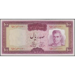Иран 100 риалов б/д (1969 - 1971 г.) (Iran 100 rials ND (1969 - 1971 year)) P 86b:Unc