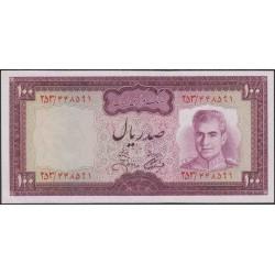Иран 100 риалов б/д (1971 - 1973 г.) (Iran 100 rials ND (1971 - 1973 year)) P 91c:Unc