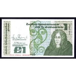 Ирландия 1 фунт 1989 г. (IRELAND 1 Pound 1989) P70d:Unc