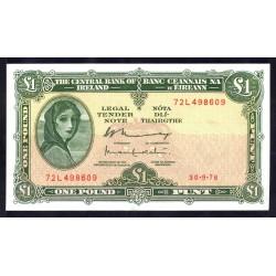 Ирландия 1 фунт 1976 г. (IRELAND 1 Pound 1976) P64d:Unc