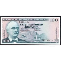 Исландия 100 крон 1957 г. (ICELAND 100 Krónur 1957) P40а:Unc