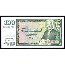 Исландия 100 крон 1961 г. (ICELAND 100 Krónur 1961) P50:Unc