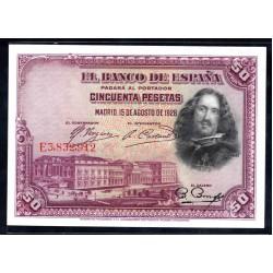 Испания 50 песет 1928 г. (SPAIN 50 Pesetas 1928) P75c:Unc