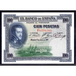 Испания 100 песет 1925 г. (SPAIN 100 Pesetas 1925) P69c:Unc