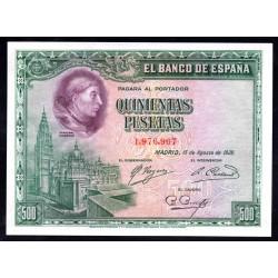 Испания 500 песет 1928 г. (SPAIN 500 Pesetas 1928) P77:Unc