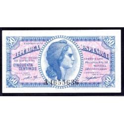 Испания 50 сантимов 1937 г. (SPAIN 50 centimos 1937) P93:Unc
