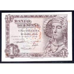 Испания 1 песета 1948 г. (SPAIN 1 pesetas 1948) P135:Unc