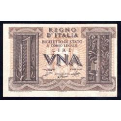 Италия 1 лира 1939 г. (ITALY 1 Lira 1939) P26:UNC-
