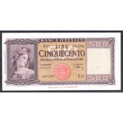 Италия 500 лир 1947 г. (ITALY 500 Lire 1947) P80а:Unc-
