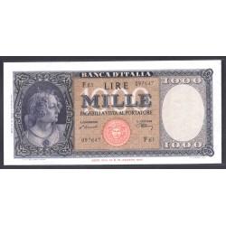 Италия 1000 лир 1947 г. (ITALY 1000 Lire 1947) P83:  aUNC-